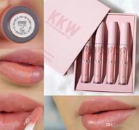 Wholesale Makeup Cosmetics Kit Set - Newest Kylie Jenner KKW Lip gloss kit X Kylie collaboration Set 4 Colors Creme Liquid Lipstick KKW By Kylie Cosmetics makeup lip gloss