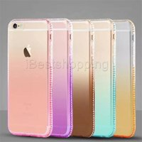 Wholesale Diamond Bling Case Retail - Bling Diamond Ultra-thin 0.5mm Hard TPU Premium Smarthone Case with Retail Package For iPhone 6 6S Plus