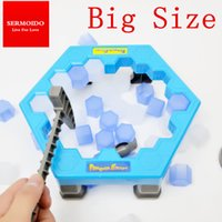 Wholesale Penguin Kids Games - Wholesale- SERMOIDO Penguin Trap Interactive Ice Breaking Table Penguin Trap Antistress Toy Activate Fun Toy For Kids Family Funny Game A50