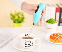Wholesale wholesale mini whisks - Coffee Automatic Electric Milk frother foamer rother batidora Drink Whisk Mixer Egg Beater Mini Handle Stirrer Kitchen Tool DHL