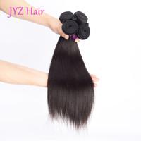 Wholesale Weave For Chinese Hair - Virgin Brazilian Straight Hair Malaysian Indian Peruvian Virgin Human Hair 4 Bundles Human Hair Extension For Black Women Free Drop Shipping