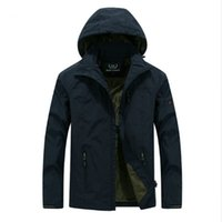 Wholesale Military Jacket Hood Mens - Brand men's clothing Military mens Jacket with hood Army Camouflage Parkas Coat polyester warm coats solid plus size