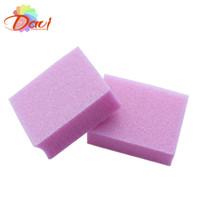 mini-nagel-dateiblöcke großhandel-100 TEILE / LOS mini versandend nagelfeile pufferblock für nagelwerkzeuge kunst rosa emery board für nagelstudio Freies verschiffen # BK0361-04