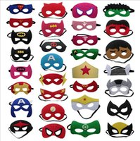 Wholesale Kids Cotton Mask - Superhero mask cosplay 129 design super hero mask star wars mask for kids Christmas Halloween birthday Party