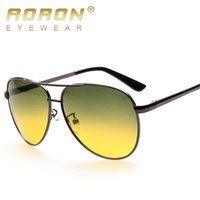 Wholesale Day Night Vision Polarized - Wholesale- Aoron Brand Day & Night Vision Goggles Polarized Sunglasses Driving Sun Glasses Men Sunglasses Oculos De Sol Eyewear Accessories