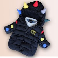 Wholesale 2016 new children s cotton and men and boys and girls winter hooded cotton padded clothing year old baby thick winter coat