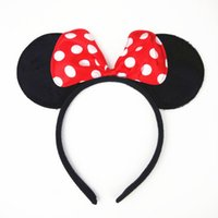 Wholesale Polka Dots Europe - 2017 New Europe and America Style Baby Hairbands Cartoon Polka Dot Ears Hair hoop Hair Accessories 3937