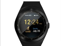 Y1 Smart Watchs Supporto rotondo Nano SIM TF Card con Whatsapp e uomini di Facebook Uomini Donna Smartwatch Per IOS Android