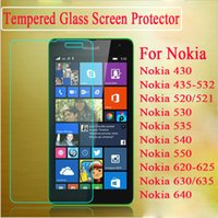 Wholesale Screen Protector For Lumia 625 - tempered glass screen protector film For Nokia 6 lumia 430 435 432 Nokia 520 521 530 535 lumia 540 550 620 625