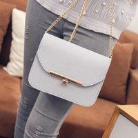 Wholesale trend big bags - Wholesale-SHIERLAN Korean version 2016 New Solid Mini Woman bag Big High-quality chain black Shoulder bag Wild trend banquet Woman bag