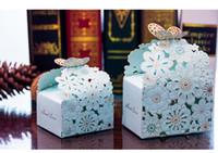 hochzeitsfeier geschenkbox schmetterling großhandel-Geschenkboxen Bevorzugungskästen Pralinenschachteln Hochzeit Bevorzugungsgeschenk Pralinenschachtel Hohle Schmetterling Geschenkbox Party