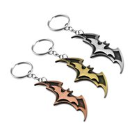 Wholesale metal key ring holder - Superhero Batman Keychain Men Trinket Super Hero Marvel Car Key Chain Chaveiro Key Ring Holder Jewelry Gift Souvenirs