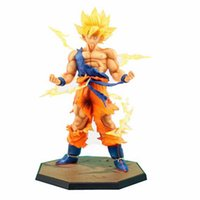 Wholesale Hot Action - Japan Hot Sales Anime 18CM dragon ball z Son Goku action figures Super Saiyan PVC Collectible Toy model for Birthday Gift