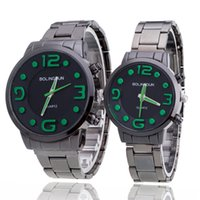 Wholesale Wholesale Contract - Free shipping fashion new steel Han edition steel band couple watches Contracted and fashionable retro steel band watches student lovers