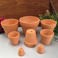 Wholesale Vintage Powder - Mini Ceramic Flower Pot D5.5XH5CM Clay Succulent Planters Garden Meat Plant Antique Vintage Nursery Pots ZA4117