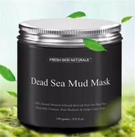 mascara de paquete natural al por mayor-Máscara de barro del Mar Muerto Anti acné Limpiador de piel Profundo Reductor de poros Desintoxicante Mineral-Infundido Natural Con Vitanins para promover A08