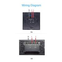 ingrosso interruttori di timer chiari-Interruttore Wifi Touch Switch Sonoff Wifi LED Interruttore timer Touch Switch Pannello in vetro Interruttore luce Telecomando Con APP US EU Plug 50pcs