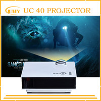 Wholesale Mini Portable Multimedia - Wholesale- 2015 Newest Original UNIC UC40 Mini Pico portable 3D Projector HDMI Home Theater beamer multimedia proyector Full HD 1080P video