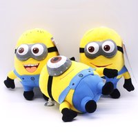 Wholesale Despicable Stuffed Animals - New 18cm Despicable Me Plush Toys Cartoon Cute Despicable Me Stuffed Animals Soft Doll Toys children gift EMS A128