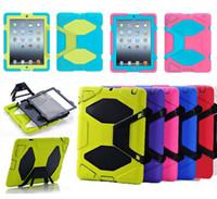 бронированный защитный чехол ipad mini оптовых-Для IPad Mini чехла таблетки военного выживания ударопрочной тяжелый режим брони для Ipad 2 3 4 5 6 Mini Pro крышка Samsung Galaxy Tab