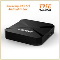 Wholesale play install - Hot Andorid 6.0 TV BOX T95E Rockchip RK3229 Quad-Core 1GB 8GB Google Play Store Pre-installed Media Player IPTV Box