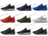 Wholesale Low Price Lights - Best price Max 97 Running Shoes Men 2017 High Quality White Black Sneakers Maxes 97 Breathable Cushion Sports Outdoor Trainers Shoes 40-46