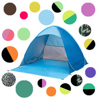 Wholesale automatic door open - Automatic Open Tent Family Tourist Fish Camping Anti-UV Fully Sun Shade Hiking Camping Family Tents For 2-3 Person