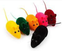 ingrosso piccoli giocattoli dei topi-Moda NUOVO Topolino Giocattolo Rumore Suono Cigolio Ratto Che Gioca Regalo per Kitten Cat Gioca 6 * 3 * 2.5cm Giocattoli per gatti