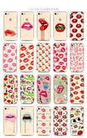 Wholesale Iphone Cartoon Cases Order - New Design Back Soft TPU Cases for Apple iPhone5 i6 i7 Fruits Butterfly Panda Lip cartoon Originality Case Mix Order
