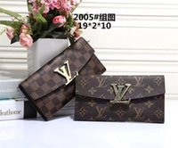 Wholesale Two Zipper Organizer - 2017 High-quality two-story leather wallets European-style brand purse designer fashion zipper hand wallet multiple colors optional