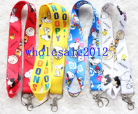Wholesale Snoopy Cell Phone - New arrival! Free shipping 60pcs Snoopy Neck Lanyard for MP3 4 cell phone DS lite Iron buckle key chain