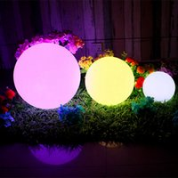Wholesale Waterproof Swimming Pool Ball - DC5V RGB 16 colors change LED Ball night lights IP68 Waterproof Floating Mood Light for Garden swimming pool Decoration