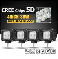 4pcs 5D CREE Chips 30W 4inch Auto LED Licht Offroad Flood / Spot Led Arbeit Lights Trucks SUV ATV Boat 4x4 4WD Fahrlampe