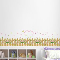 Wholesale Vinyl Pvc Fencing - new fence skirting small floral glass window wall stickers children's room, staircase wall stickers, removable waterproof *
