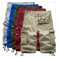 Wholesale Outdoor Sports Tooling - Mens Shorts Fashion Casual Loose Outdoor Sport Men Summer Pure Color Five Point Tooling Shorts US Size:30-38