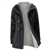 fleece gefütterte jacke frauen großhandel-Neue Damen Casual Fleece gefüttert Winter warme Mantel Kapuzenjacke