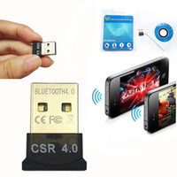 Wholesale Usb Wireless Lan Dongle - MINI USB Bluetooth Adapter 2.4mhz 3Mbps CSR 4.0 8510 A10 Wireless Dongle CSR4.0 V4.0 For Win10 7 Lan access with pack
