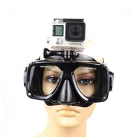 Wholesale Gopro Adapters - Wholesale-Go Pro Diving Mask Sports Swimming Dive Scuba Glasses with adapter for GoPro Hero 4 Session 3+ SJCAM SJ4000 SJ7000