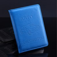 Wholesale Drive Document - Wholesale- Top Quality Russian Auto Driver License Bag PU Leather on Cover for Car Driving Documents Card Credit Holder Purse Wallet Case