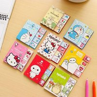 Wholesale Totoro Paper - Wholesale- Cute big hero folding stickers Kawaii hello kitty memopad totoro diary note paper Korean office school supplies escolar