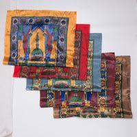 Wholesale Muslim Prayer Rugs - DHL 100pcs lot New Arribal 70*110cm Islamic Muslim Prayer Mat Salat Musallah Prayer Rug Pocket Prayer Rug Mat