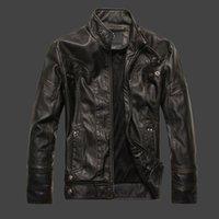 Wholesale Korea Jacket Faux - Youth pu leather men and South Korea handsome motorcycle leather jacket men plus cashmere trend coat