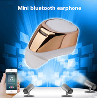 Wholesale Earplugs Mic - Manufacturer S630 bluetooth headset MINI V4.1 stealth wireless MINI into the stereo earplugs headphones for gm