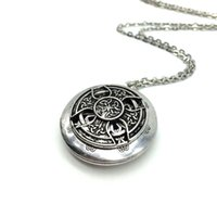 Wholesale Necklace Cross Designs - Wholesale-Exclusive Design Antique Silver Celtics Knot Cross Pendant Celti Locket Diffuser Necklace Essential Oil Locket
