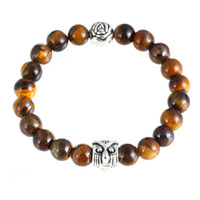 owl beads products - New product The owl roses round bead bracelet Lava stone beads