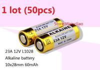 Wholesale 23a 12v alkaline battery resale online - 50pcs A V A12V V23A L1028 dry alkaline battery Volt Batteries
