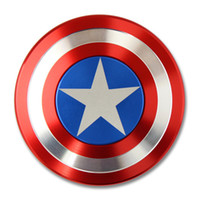 Wholesale Anti Anxiety Captain America Hand Spinner Hand Spinner Ceramic Bearing Spinner Fidget Toy for Kids Adults