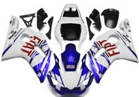 Wholesale R6 Fairing Kit Fiat - New TOP quality motorcycle ABS Fairing Kits 100% Fit For YAMAHA YZF-R6 98-02 YZF600 1998 1999 2000 2001 02 YZF R6 nice white blue red FIAT