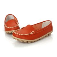 Wholesale Comfort Shoes Wholesale - New 2017 Women genuine Leather Shoes Slip on women Flats Comfort shoes woman moccasins Spring summer shoes