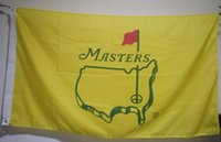 Wholesale golf flags - The US Masters Tournament Flag 90 x 150 cm Polyester Golf Club Fans Banner